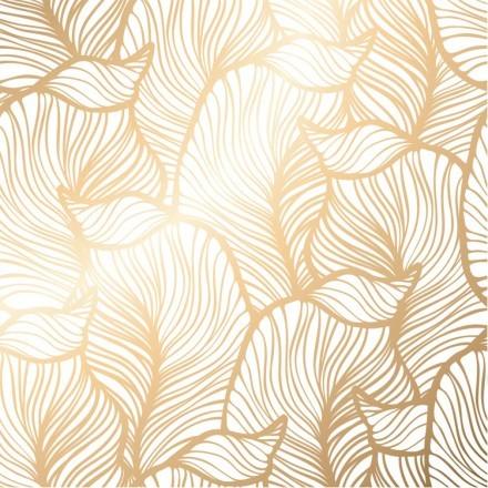 Χρυσό Μοτίβο με Λουλούδια