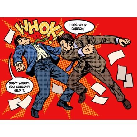 Men fighting!
