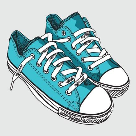 Μπλε παπούτσια