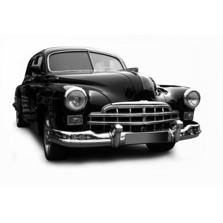 Μαύρο ρετρό αυτοκίνητο