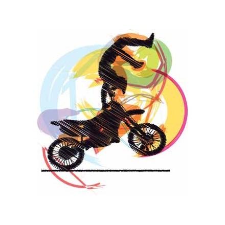 Εικονογράφηση μοτοσικλετιστή