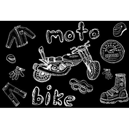 Σχέδιο μοτοσικλέτας, φόντο