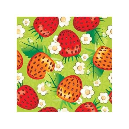 Μοτίβο με φράουλες κόκκινες