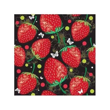 Φράουλες σε μαύρο φόντο