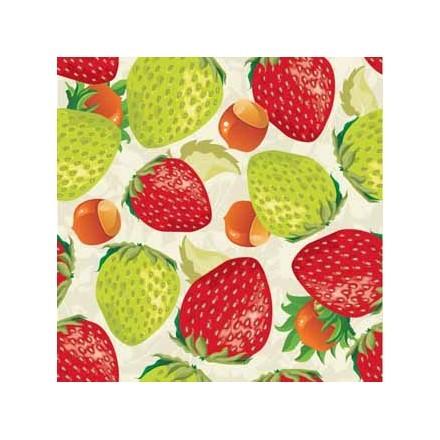 Φράουλες σε άσπρο φόντο