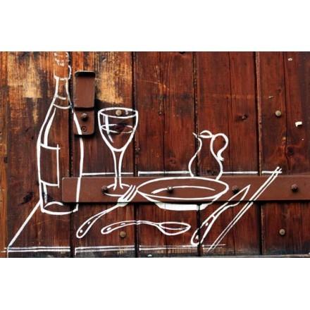 Φαγητό και ποτό - τέχνη του δρόμου