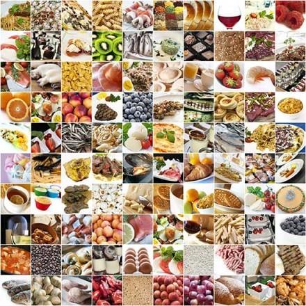 Κολάζ με τρόφιμα