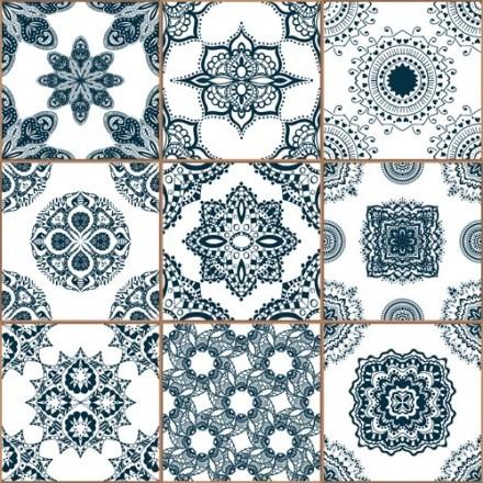 Μπλε κεραμικά πλακίδια