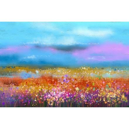 Ουράνιο Τόξο με Λουλούδια