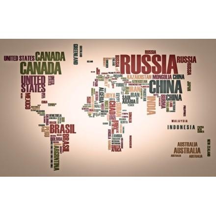 Παγκόσμιος χάρτης: χώρες από λέξεις