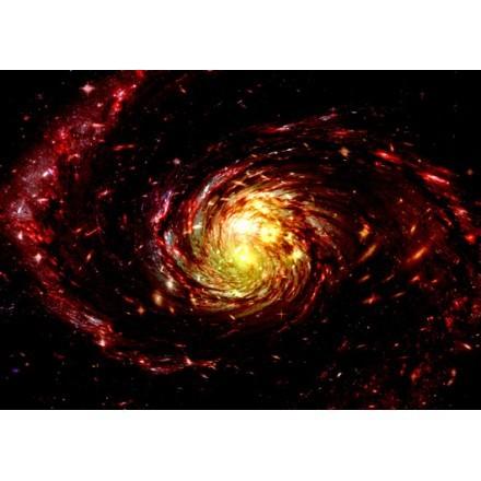 σπιράλ νεφέλωμα αερίου και τα αστέρια σε ένα μέτρο χώρο