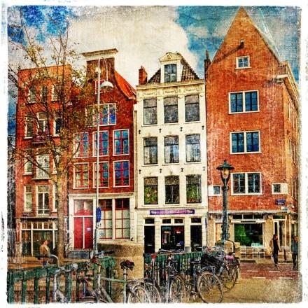 Vintage κτίρια στο Άμστερνταμ