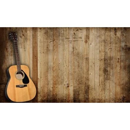 Ακουστική κιθάρα σε ένα παλιό οχυρώνα