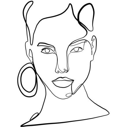 Γυναίκα με σκουλαρίκι