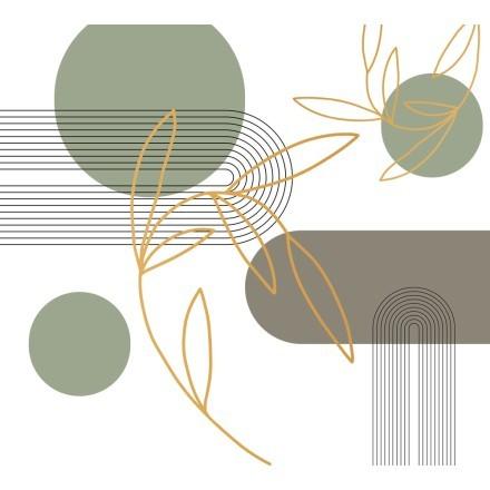 Πράσινοι κύκλοι με χρυσό φύλλο