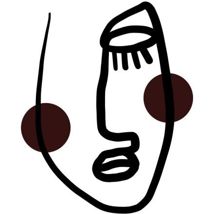 Μαύρο πρόσωπο με καφέ μάγουλα