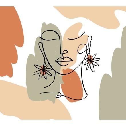 Κοπέλα με λουλουδάτα σκουλαρίκια
