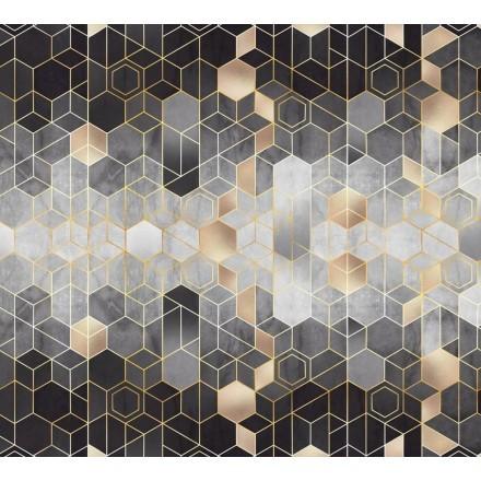 Σκουρόχρωμο μοτίβο με εξάγωνο