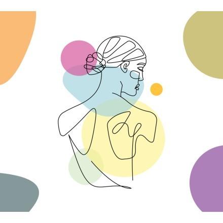 Πλάτη γυναίκας με χρώματα