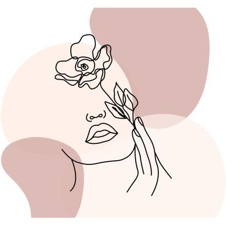 Πρόσωπο με τριαντάφυλλο