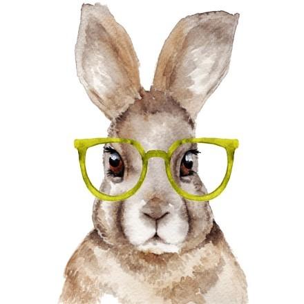 Κουνελάκι με κίτρινα γυαλιά
