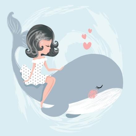 Κορίτσι πάνω σε φάλαινα
