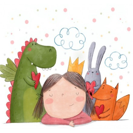 Κοριτσάκι με φίλους ζωάκια