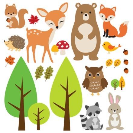 Ζωάκια στο δάσος
