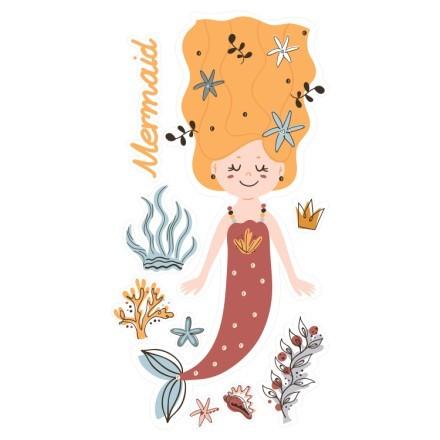 Γοργόνα με πορτοκαλί μαλλιά