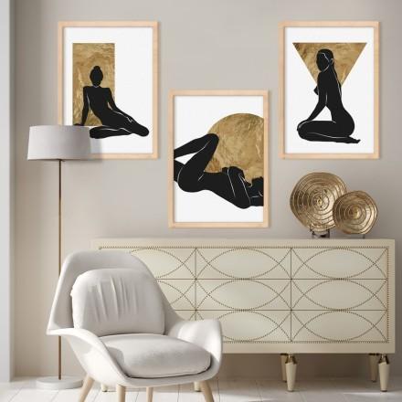 Μοντέλο με χρυσά σχέδια