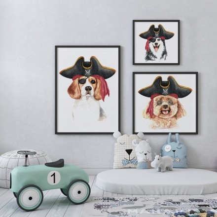 Πορτρέτα με σκυλάκια πειρατές