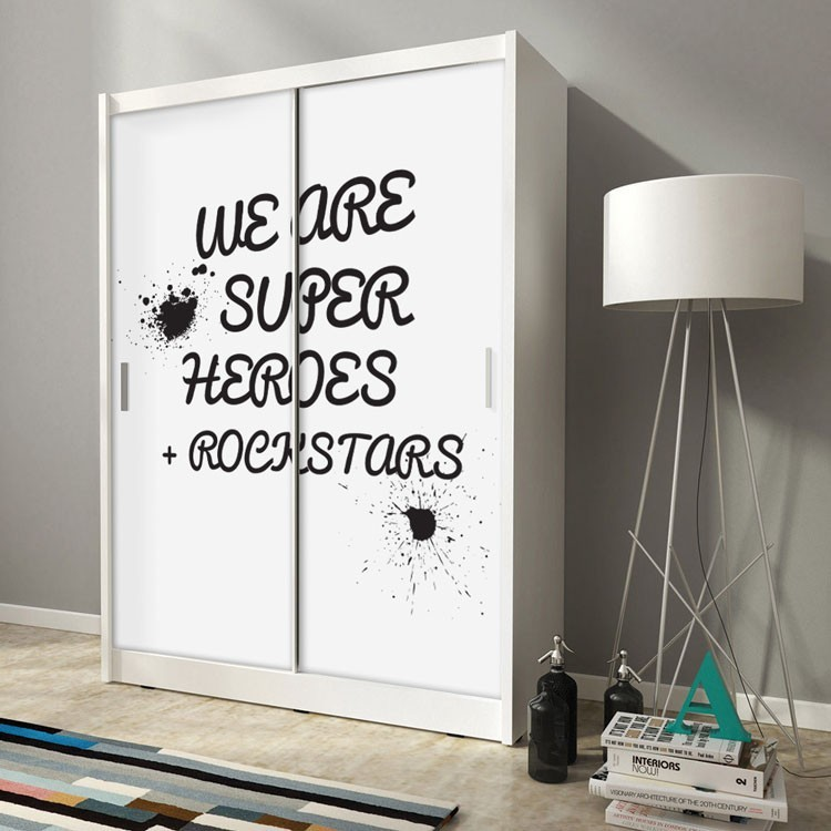 Αυτοκόλλητο Ντουλάπας Super Heroes