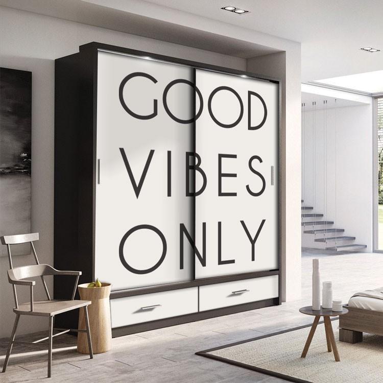 Αυτοκόλλητο Ντουλάπας Good Vibes Only