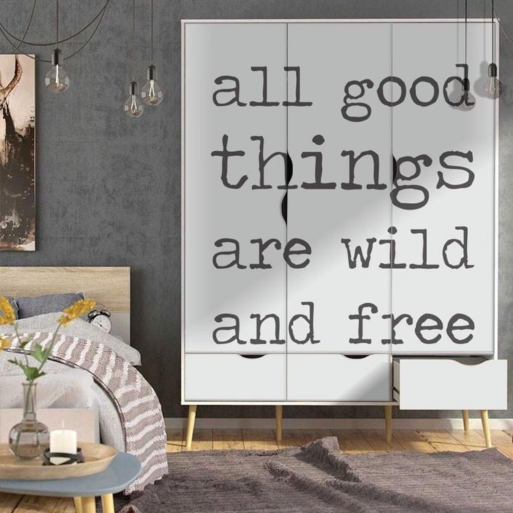Αυτοκόλλητο Ντουλάπας All good things
