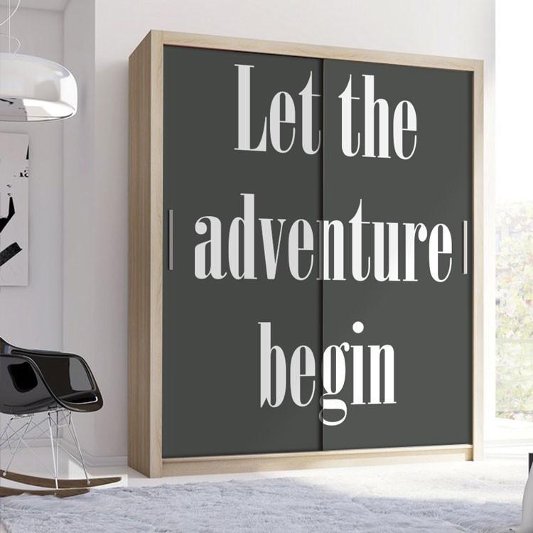 Αυτοκόλλητο Ντουλάπας Let the adventure