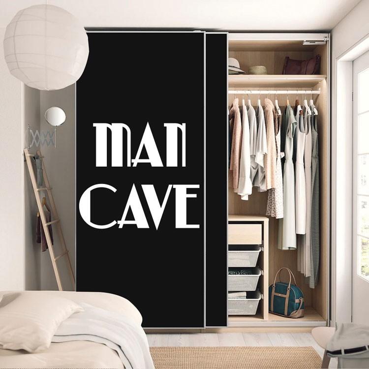 Αυτοκόλλητο Ντουλάπας Man cave