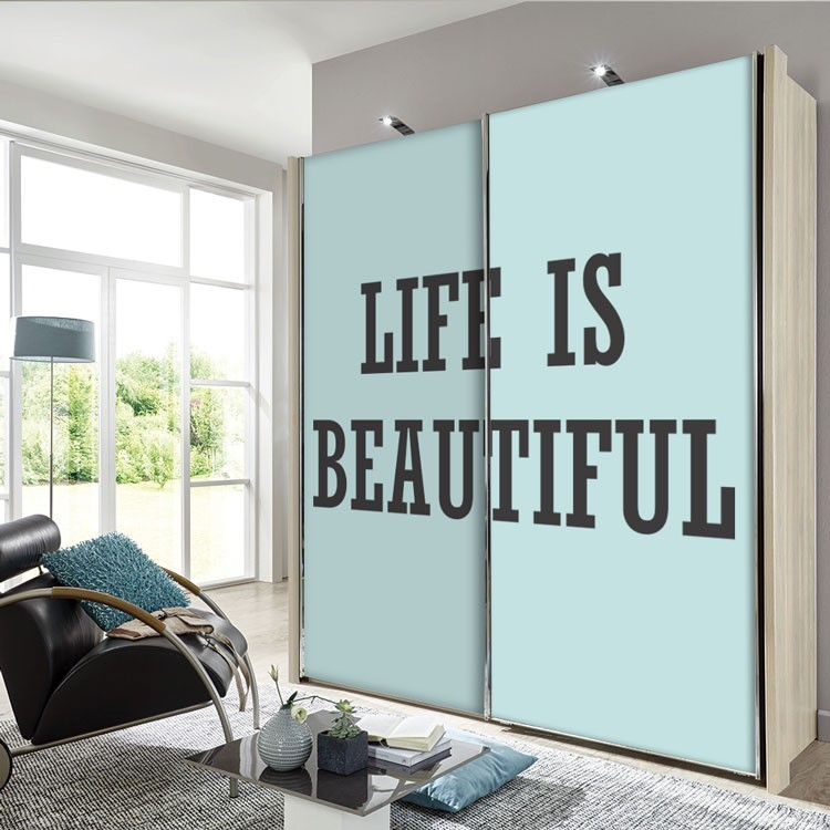 Αυτοκόλλητο Ντουλάπας Life is ..