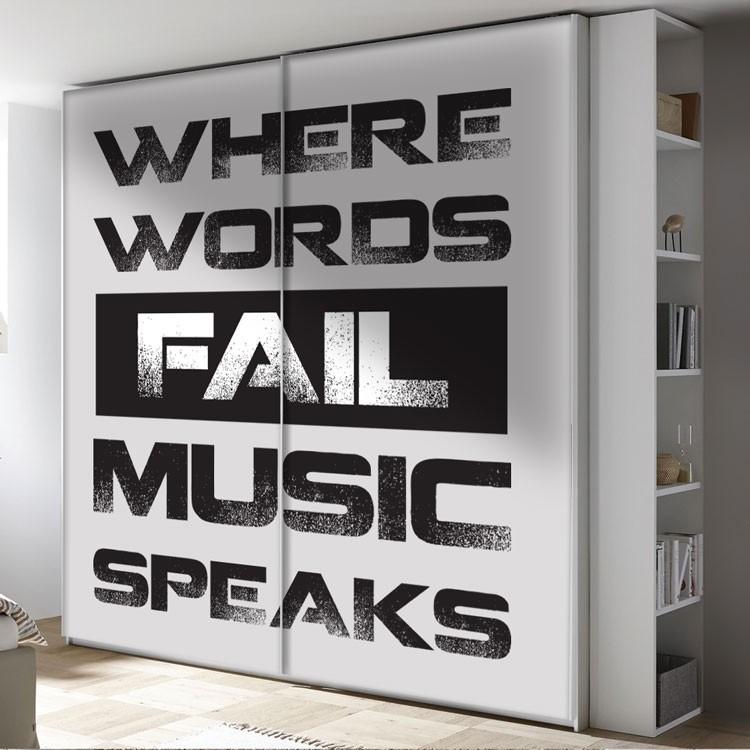 Αυτοκόλλητο Ντουλάπας Where words...