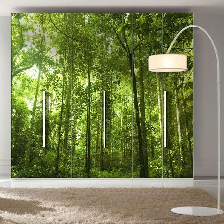Αυτοκόλλητο Ντουλάπας Καταπράσινο δάσος