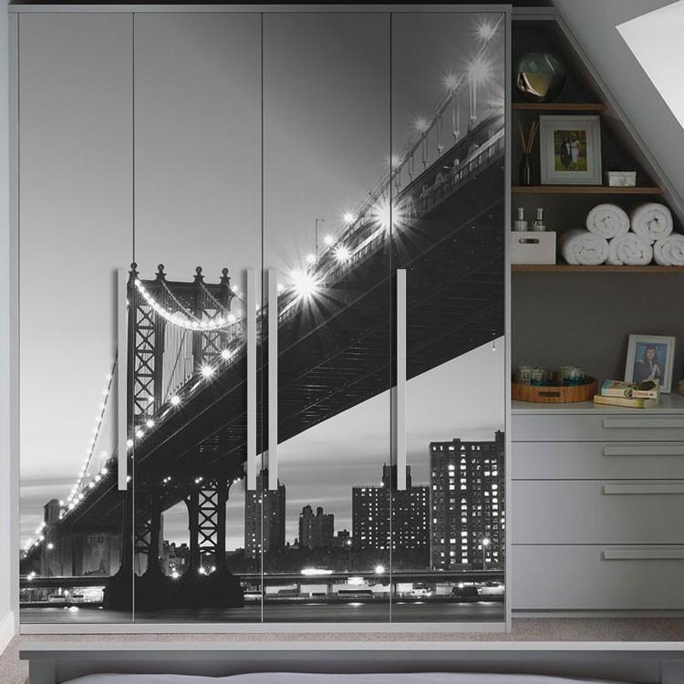 Αυτοκόλλητο Ντουλάπας Γέφυρα στη Νέα Υόρκη