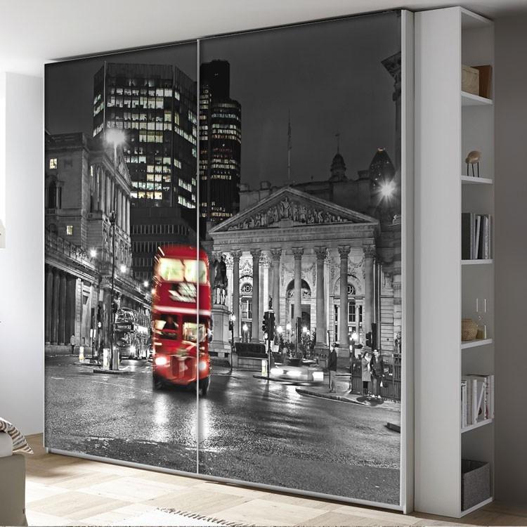 Αυτοκόλλητο Ντουλάπας Λονδίνο το βράδυ