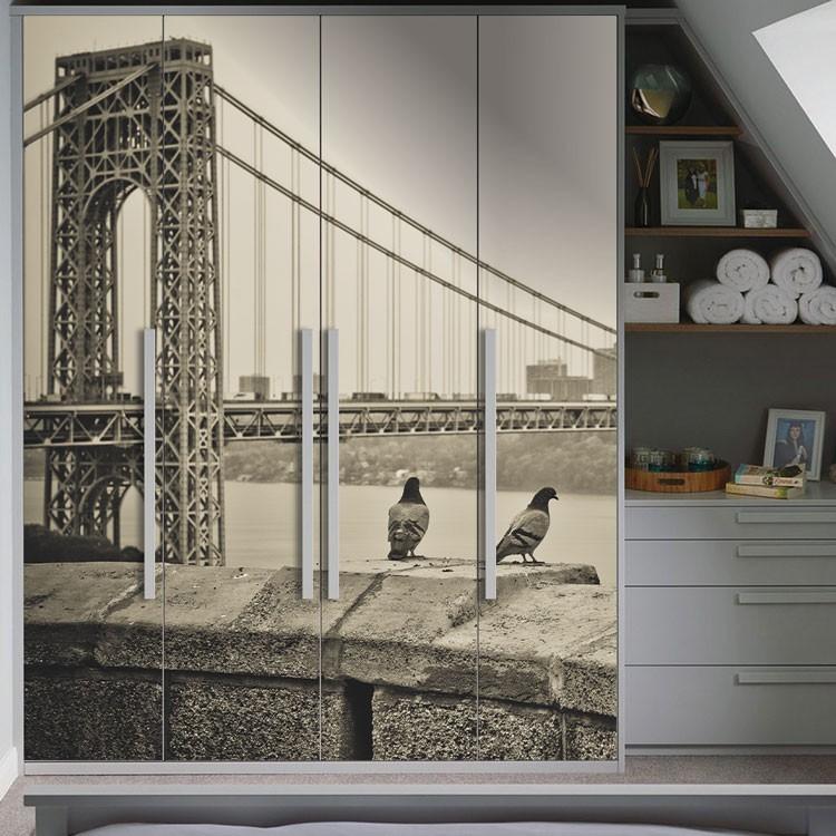 Αυτοκόλλητο Ντουλάπας Η γέφυρα της Ουάσιγκτον