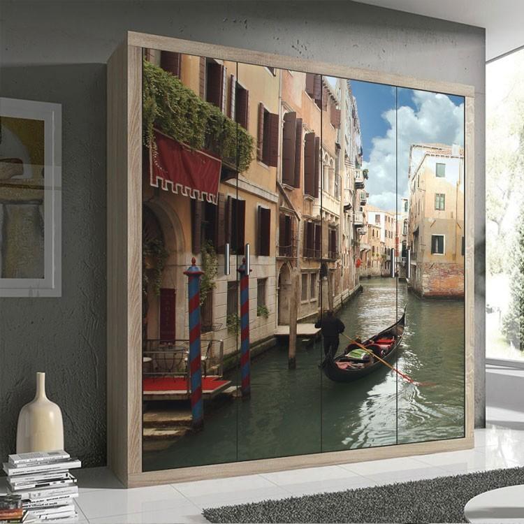 Αυτοκόλλητο Ντουλάπας Γόνδολα στη Βενετία