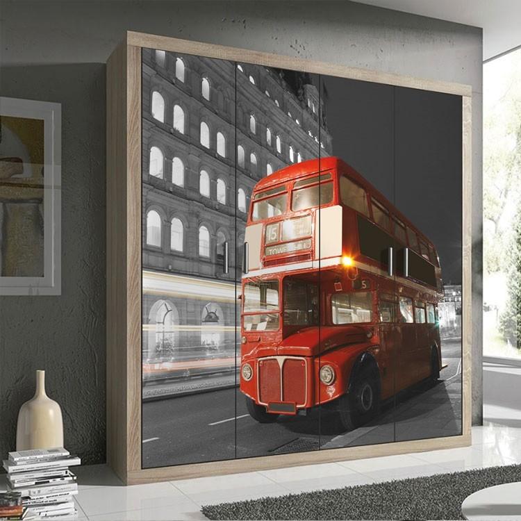 Αυτοκόλλητο Ντουλάπας Λεωφορείο, Λονδίνο