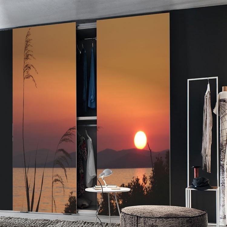 Αυτοκόλλητο Ντουλάπας Ηλιοβασίλεμα στη Σιθωνία της Χαλκιδικής