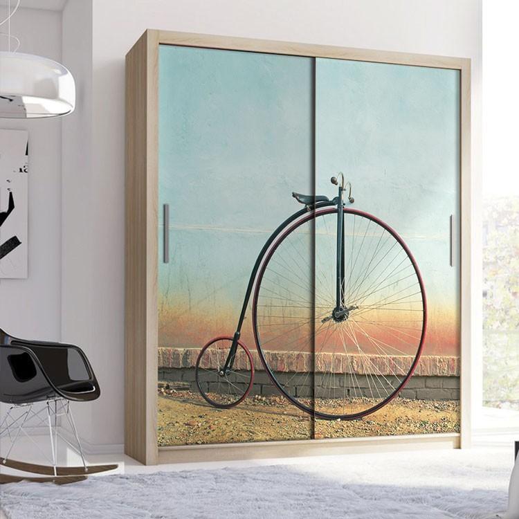 Αυτοκόλλητο Ντουλάπας Vintage ποδήλατο