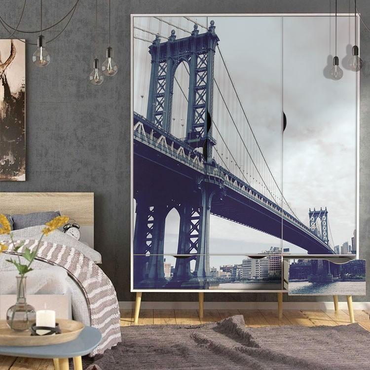 Αυτοκόλλητο Ντουλάπας Γέφυρα του Μανχάταν, Νέα Υόρκη