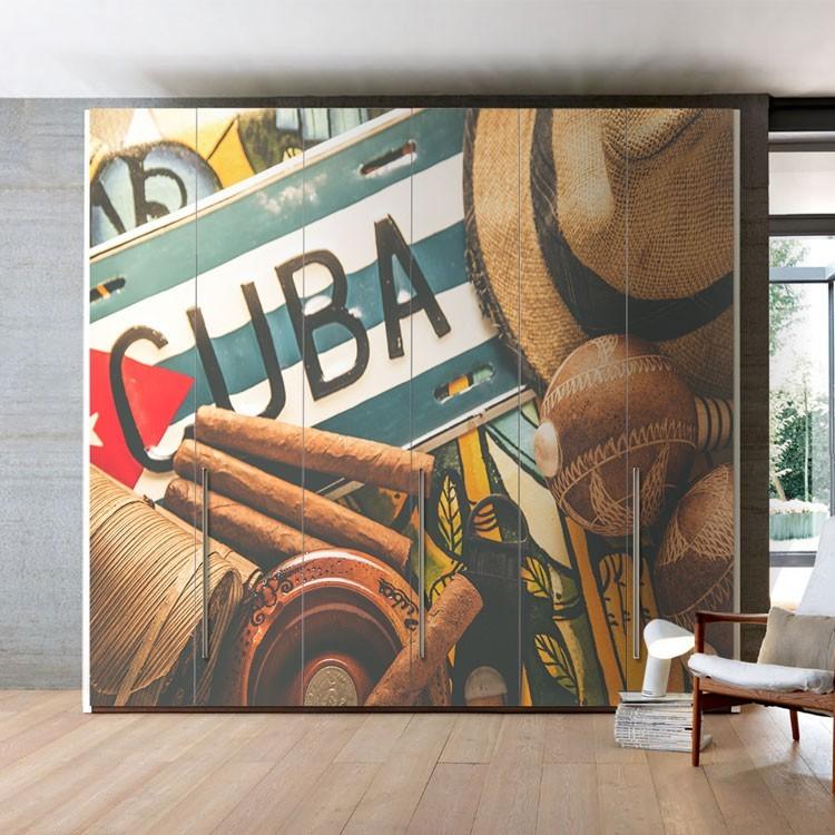 Αυτοκόλλητο Ντουλάπας Κούβα