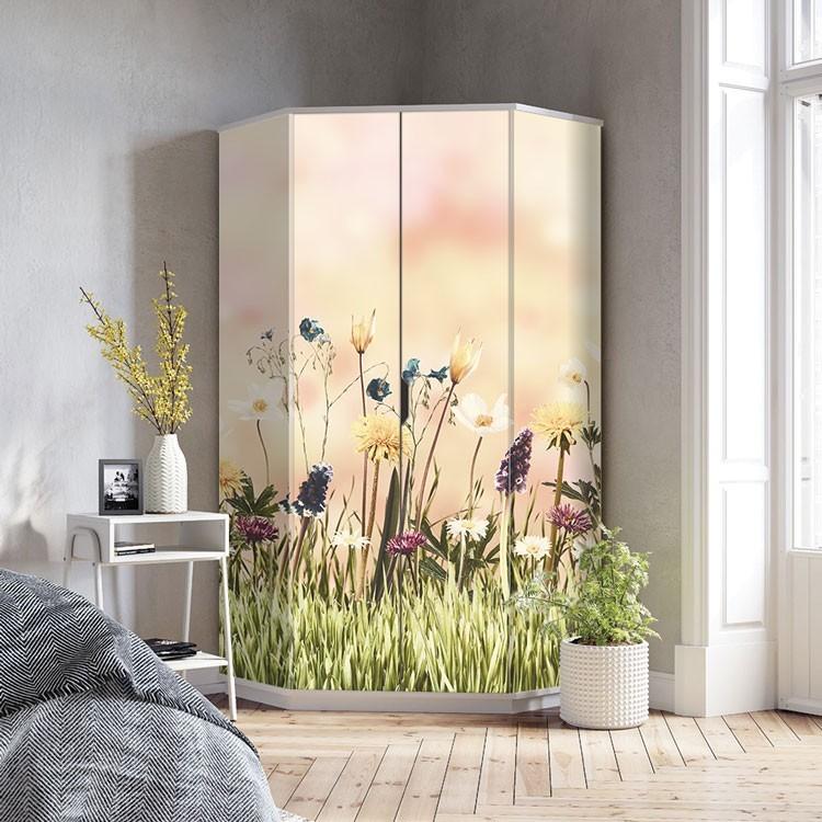 Αυτοκόλλητο Ντουλάπας Όμορφα λουλούδια