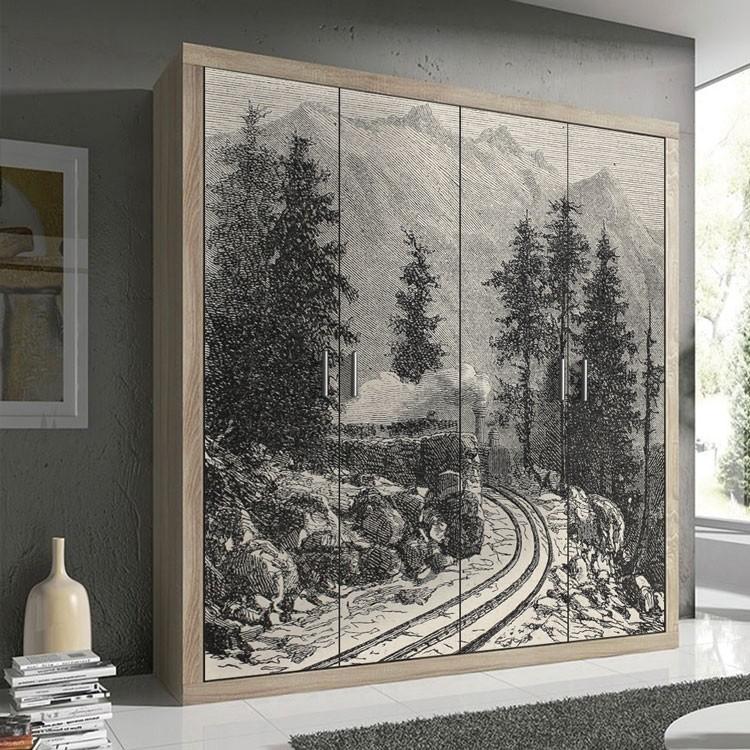 Αυτοκόλλητο Ντουλάπας Σιδηρόδρομος Mont Cenis